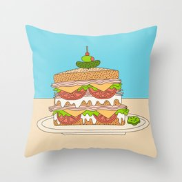 Sloppy Sandwich Throw Pillow