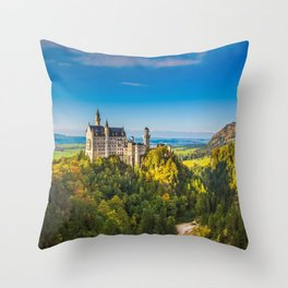 Gorgeous Gracious Fairytale Neuschwanstein Castle Schwangau Bavaria Germany Europe Ultra HD Throw Pillow