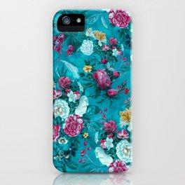 Blue summer garden iPhone Case