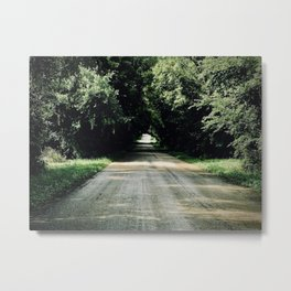 Lost in a Beautiful Green Tunnel Metal Print