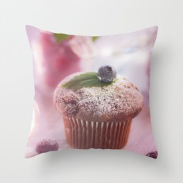 Sweet fruit muffin fine  Throw Pillow