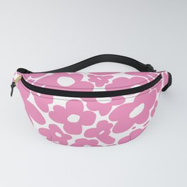 60s 70s Hippy Flowers Pink Fanny Pack