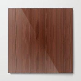 Walnut Wood Texture Metal Print