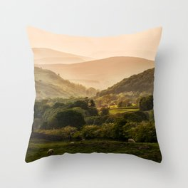 Sunny afternoon in Lake District Throw Pillow