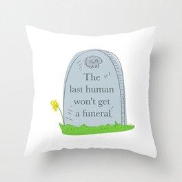 Funeral Throw Pillow