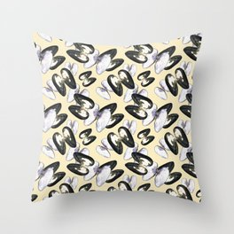Unio Crassus Pattern in Beige Throw Pillow