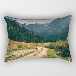 Sunny Mountain Valley   Late Summer Landscape   Tatry Rectangular Pillow