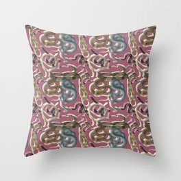 Sandstone Snakes in Mauve Throw Pillow