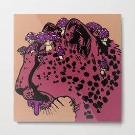 Amanita Cheetah Metal Print