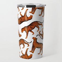 Tigers (White and Orange) Travel Mug
