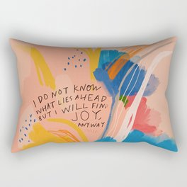 Find Joy. The Abstract Colorful Florals Rectangular Pillow