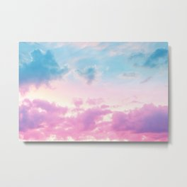 Unicorn Pastel Clouds #3 #decor #art #society6 Metal Print