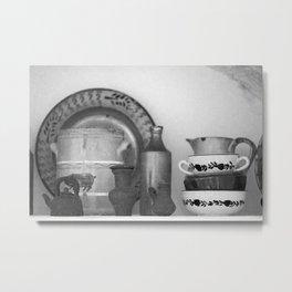 Pottery still life Metal Print
