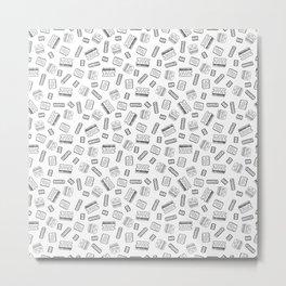 Op Amps - Black on White Metal Print
