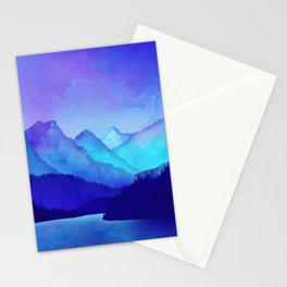 Cerulean Blue Mountains Stationery Cards