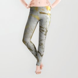 Gold marble Leggings