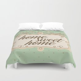 Home sweet home housewarming welcome gift art print Duvet Cover