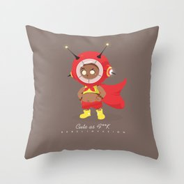 Cute as F**K Throw Pillow
