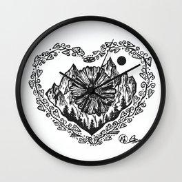 """Heart in the Highlands"" Scotland, Scottish Art, Irish Artwork, Celtic Decor Wall Clock"