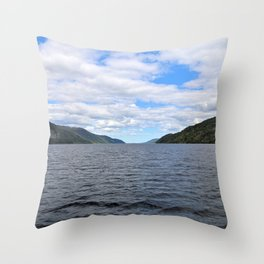 The Great Loch Ness Throw Pillow