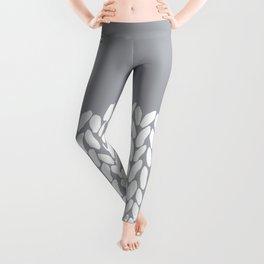 Half Knit Grey Leggings