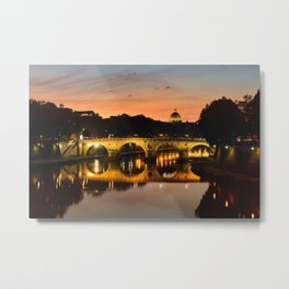 St. Peter in the Vatican with Ponte Sisto in first term. Metal Print