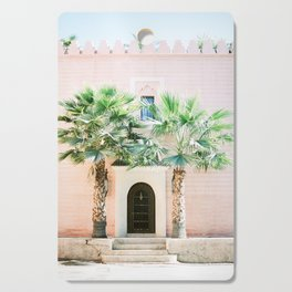"Travel photography print ""Magical Marrakech"" photo art made in Morocco. Pastel colored. Cutting Board"