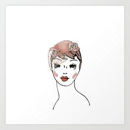 Whimsie Hat Art Print