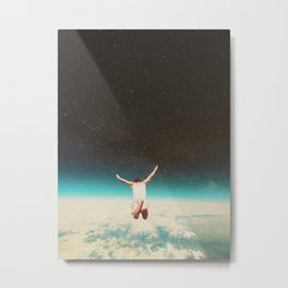 Falling with a hidden smile Metal Print