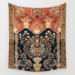 Kashan Poshti  Antique Central Persian Rug Print Wall Tapestry