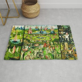 The Garden of Earthly Delights Triptych by Hieronymus Bosch Rug