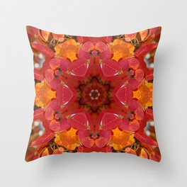 Serviceberry mandala tapestry Throw Pillow