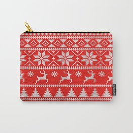 Fair Isle Christmas Carry-All Pouch