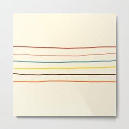 Classic Abstract Minimal Rainbow Retro Summer Style Stripes #2 Metal Print