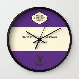 Hear my womanly roar- the book Wall Clock