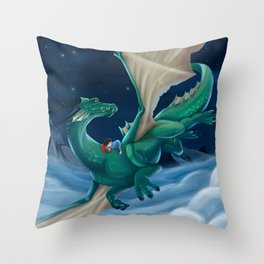 Boy and his Dragon Throw Pillow