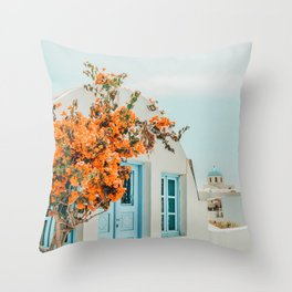 Greece Airbnb #photography #greece #travel Throw Pillow