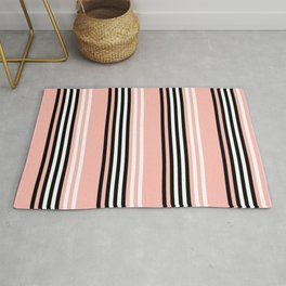 Geometric Design 8 to compliment Horizons Geometric Design 5 - Peach Pink Rug