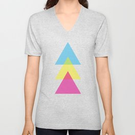 CMY Triad Unisex V-Neck