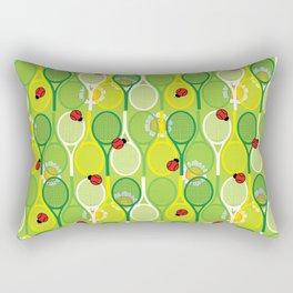 Tennis with ladybugs Rectangular Pillow