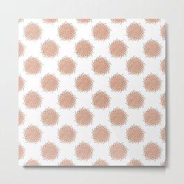 acrylic pastel dilative symmetry Metal Print