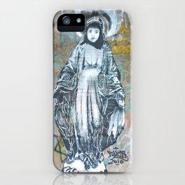 Virgin Mary Picture Street Art Poster Print graffiti iPhone Case