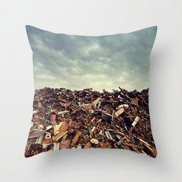 Scrapmetal Skies Throw Pillow