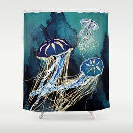 Metallic Jellyfish III Shower Curtain