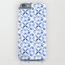 Blue Portuguese tiles II iPhone Case