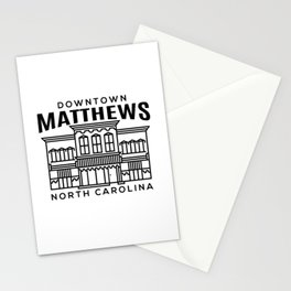 Downtown Matthews NC Stationery Cards