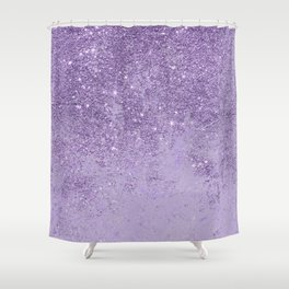Modern elegant lavender lilac glitter marble Shower Curtain