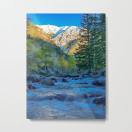 River Bed Sunrise // Long Exposure Landscape Photograph in the Colorado Rocky Mountains Metal Print