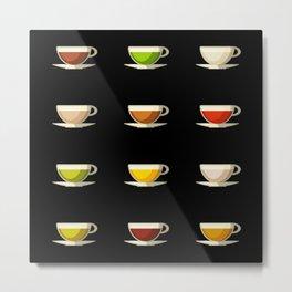 Different Tea Mugs - Tealover Gift Metal Print
