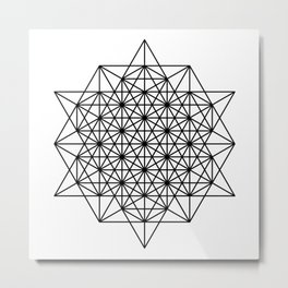 Star tetrahedron, sacred geometry, void theory Metal Print
